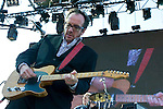 Elvis Costello and the Imposters performs at the Gorge Amphitheater on  Saturday, July 12, 2008 near George, Washington.  Jim Bryant Photo. ©2008. All Rights Reserved...