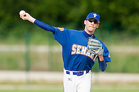22 May 2009: Matthieu Brelle Andrade of Senart throws the ball during the 2009 challenge de France, a tournament with the best French baseball teams - all eight elite league clubs - to determine a spot in the European Cup next year, at Montpellier, France. Senart wins 7-1 over Montpellier.