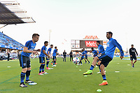 San Jose, CA - Wednesday June 28, 2017: Tommy Thompson, Chris Wondolowski prior to a U.S. Open Cup Round of 16 match between the San Jose Earthquakes and the Seattle Sounders FC at Avaya Stadium.