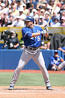 May 25th 2008:  Right fielder David DeJesus (9) of the Kansas City Royals during a game at the Rogers Centre in Toronto, Ontario, Canada .  Photo by:  Mike Janes/Four Seam Images