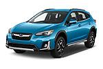 2020 Subaru Crosstrek Hybrid 5 Door SUV Angular Front automotive stock photos of front three quarter view