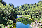 The Nehalem River below Nehalem Falls, drains the Oregon Coast Range on the northwest coast of Oregon State, terminating in the Pacific Ocean at Nehalem Bay.