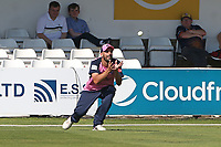 Daryl Mitchell of Middlesex takes a catch to dismiss Dan Lawrence during Essex Eagles vs Middlesex, Vitality Blast T20 Cricket at The Cloudfm County Ground on 18th July 2021