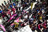 #06: Helio Castroneves, Meyer Shank Racing Honda celebrating win