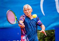 Hilversum, The Netherlands,  August 20, 2021,  Tulip Tennis Center, NKS, National Senior Tennis Championships, Men's Single 65+,  Anton Bouwhuis (NED)<br /> Photo: Tennisimages/Henk Koster