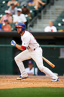 Buffalo Bisons catcher Josh Thole (17) at bat during a game against the Columbus Clippers on July 19, 2015 at Coca-Cola Field in Buffalo, New York.  Buffalo defeated Columbus 4-3 in twelve innings.  (Mike Janes/Four Seam Images)