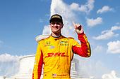 Ryan Hunter-Reay, Andretti Autosport Honda, Winner Celebrates in Scott Fountain