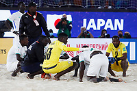 28th August 2021; Luzhniki Stadium, Moscow, Russia: FIFA World Cup Beach Football tournament; Semi final match Japan versus Senegal:  Senegal players disappointed at the defeat after the match between Japan and Senegal