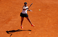Naomi Osaka of Japan in her match against Dominika Cibulkova of Slovakia during day three of the Mutua Madrid Open at La Caja Magica on May 05, 2019 in Madrid, Spain. /NortePhoto.com