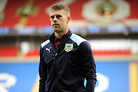 Johann Gudmundsson of Burnley walks the pitch prior to the Premier League match between Cardiff City and Burnley at Cardiff City Stadium in Cardiff, Wales, UK. Sunday 30 September 2018