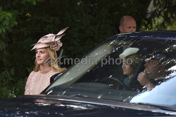 05 July 2015 - King's Lynn, United Kingdom - Lady Melissa Percy and Laura Fellowes. The Christening of Princess Charlotte of Cambridge at the Church of St Mary Magdalene on the Sandringham Estate. Photo Credit: Alpha Press/AdMedia