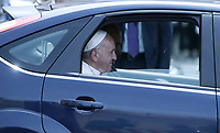 Pope Francis leaves the Quirinale presidential palace at the end of his meeting with Italian President Sergio Mattarella, in Rome, on June 10, 2017.<br /> UPDATE IMAGES PRESS/Isabella Bonotto<br /> STRICTLY ONLY FOR EDITORIAL USE