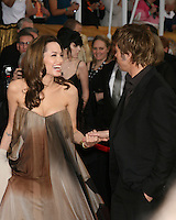 Brad Pitt and Angelina Jolie.2008 Screen Actor's Guild Awards .Shrine Auditorium.Los Angeles, CA.January 27, 2008.©2008 Kathy Hutchins / Hutchins Photo...            .