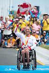 MILTON, ON, AUGUST 13, 2015. Cycling time trials, including Canadian Bronze Medallist Charles Moreau (H3M)<br /> Photo: Dan Galbraith/Canadian Paralympic Committee