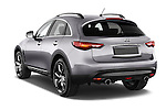 Car pictures of rear three quarter view of a 2015 Infiniti QX70 S 5 Door Suv Angular Rear