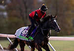 November 3, 2020: Kameko, trained by trainer Andrew M. Balding, exercises in preparation for the Breeders' Cup Mile at  Keeneland Racetrack in Lexington, Kentucky on November 3, 2020. Alex Evers/Eclipse Sportswire/Breeders Cup