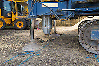 Keller installing vibro gravel piles to improve ground conditions and increase loading capabilities