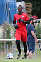 goalkeeper Johan Kerian Atheba (26) of Union during the warm up before a preseason friendly soccer game between Tempo Overijse and Royale Union Saint-Gilloise, Saturday 29th of June 2021 in Overijse, Belgium. Photo: SPORTPIX.BE   SEVIL OKTEM