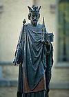May 10, 2012; Statue St. Edward outside St. Edward's Hall..Photo by Matt Cashore/University of Notre Dame