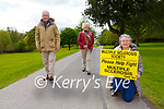 Jillian O'Sullivan Treasurer launching the Multiple Sclerosis Society 100k for the month of May walk  with Pat and Norrie O'Neill in Killarney on Tuesday