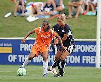 Skyblue FC forward Rosana (11) and Washington Freedom defender Sarah Senty (2)The Skyblue FC defeated the Washington Freedom 2-1 in first round of WPS playoffs at the Maryland Soccerplex, Saturday, August 15, 2009.