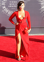 LOS ANGELES, CA, USA - AUGUST 24: Demi Lovato at the 2014 MTV Video Music Awards held at The Forum on August 24, 2014 in the Los Angeles, California, United States. (Photo by Xavier Collin/Celebrity Monitor)