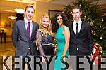 Barry O'Sullivan, Evangeline O'Dowd, Robin Fitzgibbon, Kevin Sheehy enjoying the Castlegregory Secondary School Debs at the Brandon Hotel on Saturday