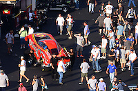Sept. 14, 2012; Concord, NC, USA: NHRA funny car driver Jim Head during qualifying for the O'Reilly Auto Parts Nationals at zMax Dragway. Mandatory Credit: Mark J. Rebilas-