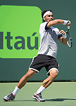 March 31 2017: Fabio Fognini (ITA) loses to Rafael Nadal (ESP) 6-1, 7-5, at the Miami Open being played at Crandon Park Tennis Center in Miami, Key Biscayne, Florida. ©Karla Kinne/Tennisclix/Cal Sport Media