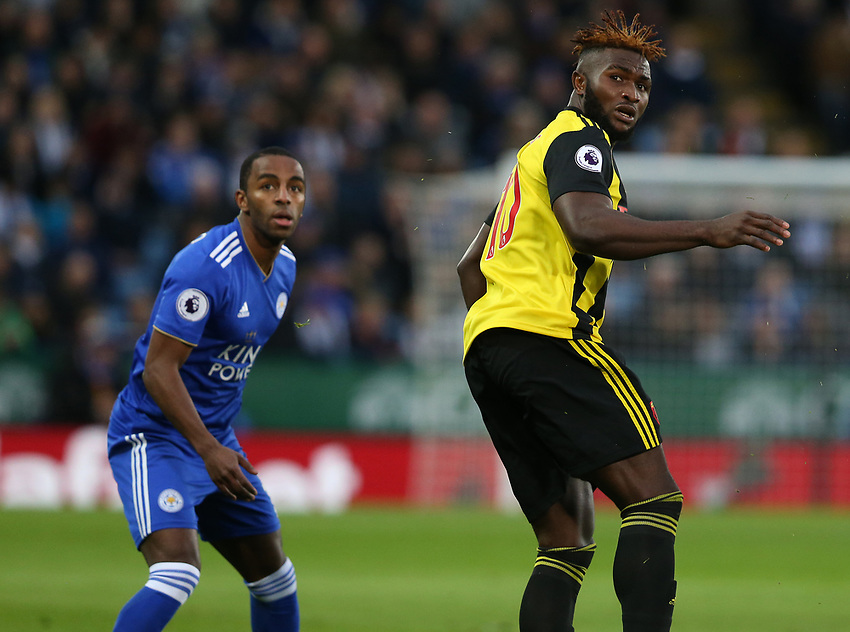 Watford's Isaac Success <br /> <br /> Photographer Stephen White/CameraSport<br /> <br /> The Premier League - Leicester City v Watford - Saturday 1st December 2018 - King Power Stadium - Leicester<br /> <br /> World Copyright © 2018 CameraSport. All rights reserved. 43 Linden Ave. Countesthorpe. Leicester. England. LE8 5PG - Tel: +44 (0) 116 277 4147 - admin@camerasport.com - www.camerasport.com