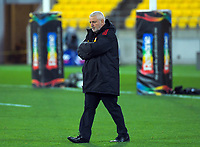 Cheifs head coach Warren Gatland during the Super Rugby Aotearoa match between the Hurricanes and Chiefs at Sky Stadium in Wellington, New Zealand on Saturday, 8 August 2020. Photo: Dave Lintott / lintottphoto.co.nz