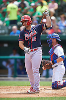 Peoria Chiefs first baseman Chris Chinea (12) at bat during the first game of a doubleheader against the South Bend Cubs on July 25, 2016 at Four Winds Field in South Bend, Indiana.  South Bend defeated Peoria 9-8.  (Mike Janes/Four Seam Images)