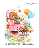 GIORDANO, CUTE ANIMALS, LUSTIGE TIERE, ANIMALITOS DIVERTIDOS, Teddies, paintings+++++,USGI1828,#AC# teddy bears