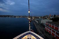 Black Sea, Sealing aboard the Silver Wind, arraving to Turkey . September 2010.