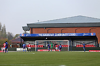General view of the action during Maldon & Tiptree vs Morecambe, Emirates FA Cup Football at the Wallace Binder Ground on 8th November 2020