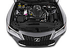 Car Stock 2021 Lexus IS 300 4 Door Sedan Engine  high angle detail view