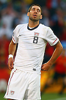 Clint Dempsey of USA. USA defeated Algeria 1-0 in stoppage time in the 2010 FIFA World Cup at Loftus Versfeld Stadium in Pretoria, Sourth Africa, on June 23th, 2010.