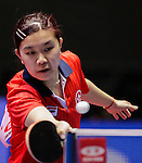 Athelete in action during the ITTF World Team Table Tennis Championship 2014 at the Yoyogi National Gymnasium on May 04, 2014 in Tokyo, Japan. Photo by Alan Siu / Power Sport Images