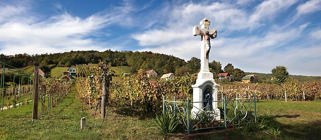 Cross of the blue Madonna - Korseg (Körseg) vineyards, Velem, Hungary