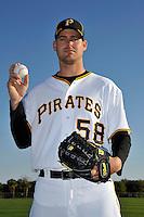 Feb 28, 2010; Bradenton, FL, USA; Pittsburgh Pirates  pitcher Steven Jackson (58) during  photoday at Pirate City. Mandatory Credit: Tomasso De Rosa/ Four Seam Images