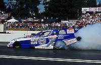 Aug. 7, 2011; Kent, WA, USA; NHRA funny car driver Robert Hight during the Northwest Nationals at Pacific Raceways. Mandatory Credit: Mark J. Rebilas-