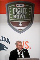 San Francisco, California - January 7, 2010: Kraft Fight Hunger Bowl Luncheon honoring Nevada and Boston College, in San Francisco, California.