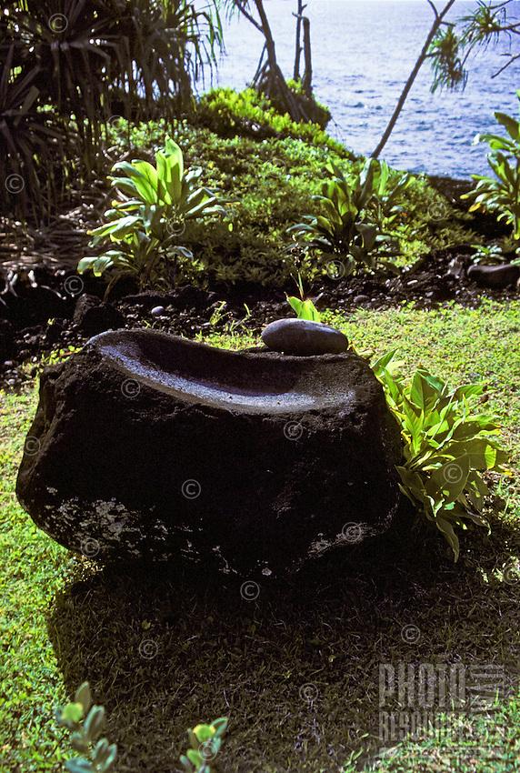 Large rock at Hana heiau, Maui