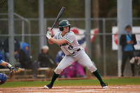 Dartmouth Big Green Kolton Freeman (28) bats during a game against the Indiana State Sycamores on February 21, 2020 at North Charlotte Regional Park in Port Charlotte, Florida.  Indiana State defeated Dartmouth 1-0.  (Mike Janes/Four Seam Images)