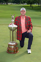 30th May 2021; Fort Worth, Texas, USA;  Jason Kokrak poses with trophy after winning the Charles Schwab Challenge on May 30, 2021 at Colonial Country Club in Fort Worth, TX.