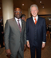 Former United States President Bill Clinton met with seven members of the FIFA executive committee at the Saxon Hotel in Sandhurst, Johannesburg, South Africa on June 24, 2010.  Clinton is the honorary chairman of the U.S. bid to host the World Cup in either 2018 or 2022.