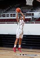 Erica McCall with Stanford Women's basketball team. Photo taken on Wednesday, October 2, 2013