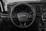 Car pictures of steering wheel view of a 2021 Ford Transit 350-XLT 5 Door Passenger Van Steering Wheel