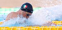 Trofeo Settecolli di nuoto al Foro Italico, Roma, 14 giugno 2013.<br /> Fabio Scozzoli, of Italy, competes in the men's 50 meters breaststroke at the Sevenhills swimming trophy in Rome, 14 June 2013.<br /> UPDATE IMAGES PRESS/Isabella Bonotto