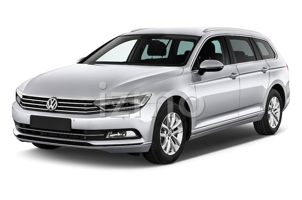 2015 Volkswagen Passat Comfort 5 Door Wagon Angular Front stock photos of front three quarter view